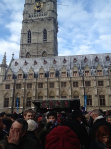New years drink in Ghent. It was super crowded.